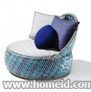 Recycled Material Garden Armchair by Dedon