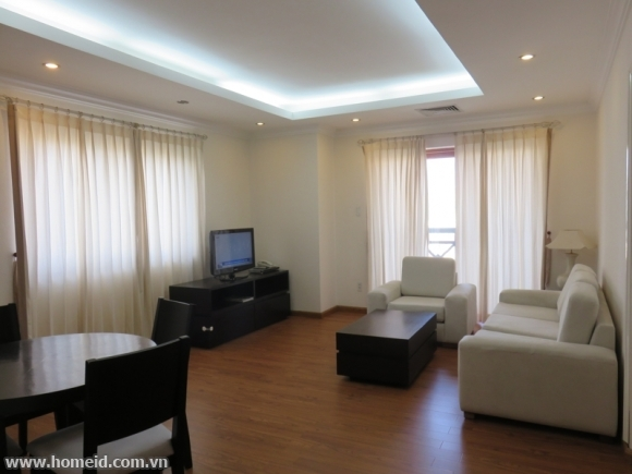 Beautiful scene and noble serviced apartment for rent on Dang Dung Str, Ba Dinh Dist