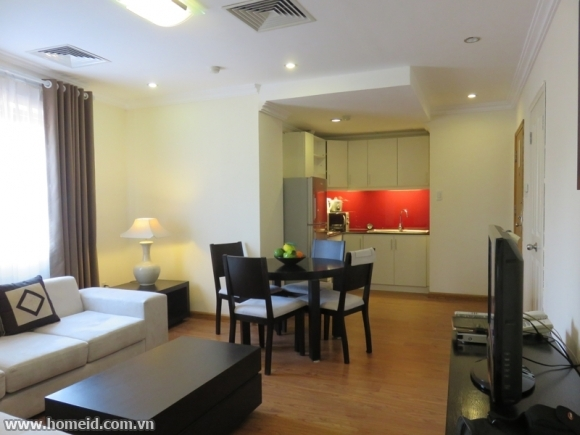 Beautiful decorated and noble serviced apartment for rent on Dang Dung Street , Ba Dinh District , Ha Noi City