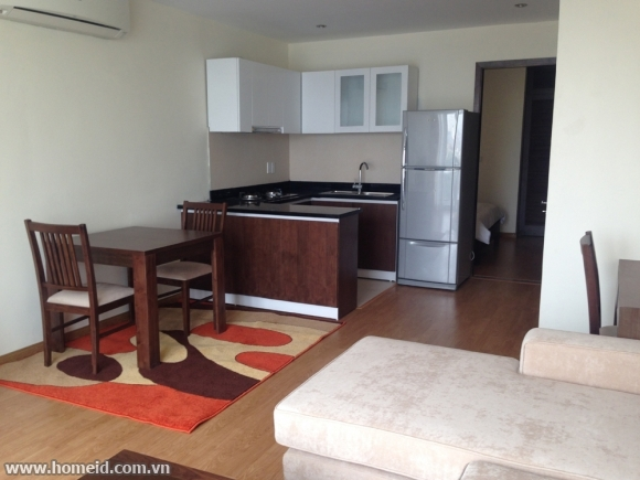 Luxurious and spacious 1 bedroom serviced apartment for rent in Ba Dinh Disstrict