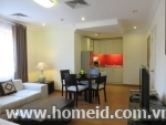 Beautiful decorated and noble serviced apartment for rent on Dang Dung Street, Ba Dinh District, Ha Noi City